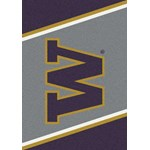 "Milliken College Team Spirit (NCAA) Washington 33391 Spirit Rectangle (4000019040) 3'10"" x 5'4"" Area Rug"