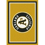 "Milliken MLB Team Spirit (MLB-S) Oakland Athletics 01026 Spirit Rectangle (4000050019) 3'10"" x 5'4"" Area Rug"