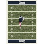 "Milliken NFL Team Home Field (NFL-F) New England Patriots 01057 Home Field Rectangle (4000019803) 3'10"" x 5'4"" Area Rug"