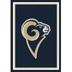 "Milliken NFL Team Spirit (NFL-S) St. Louis Rams 00986 Spirit Rectangle (4000095962) 7'8"" x 10'9"" Area Rug"