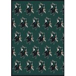 "Milliken NHL Team Repeat (NHL-R) San Jose Sharks 02052 Repeat Rectangle (4000020457) 7'8"" x 10'9"" Area Rug"