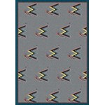 "Milliken MLB Team Repeat (MLB-R) Miami Marlins 01140 Repeat Rectangle (4000019546) 5'4"" x 7'8"" Area Rug"