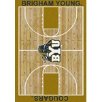 "Milliken College Home Court (NCAA) Brigham Young 01048 Court Rectangle (4000018454) 7'8"" x 10'9"" Area Rug"
