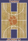 Milliken College Home Court (NCAA) Clemson 01050 Court Rectangle (4000018371) 5'4