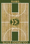Milliken College Home Court (NCAA) Colorado State 01065 Court Rectangle (4000018373) 5'4