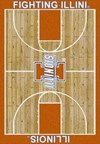 Milliken College Home Court (NCAA) Illinois 01113 Court Rectangle (4000018297) 3'10
