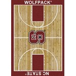 "Milliken College Home Court (NCAA) North Carolina State 01220 Court Rectangle (4000018315) 3'10"" x 5'4"" Area Rug"
