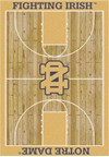 Milliken College Home Court (NCAA) Notre Dame 01260 Court Rectangle (4000018490) 7'8