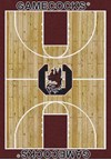 Milliken College Home Court (NCAA) South Carolina 01350 Court Rectangle (4000018329) 3'10