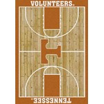 "Milliken College Home Court (NCAA) Tennessee 01400 Court Rectangle (4000018509) 7'8"" x 10'9"" Area Rug"