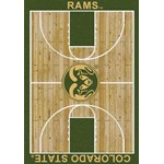 "Milliken College Home Court (NCAA-CRT) Colorado State 01065 Court Rectangle (4000096087) 10'9"" x 13'2"" Area Rug"