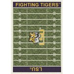 "Milliken College Home Field (NCAA-FLD) LSU 01152 Home Field Rectangle (4000054633) 3'10"" x 5'4"" Area Rug"