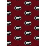 "Milliken College Repeating (NCAA) Georgia 01080 Repeat Rectangle (4000018980) 10'9"" x 13'2"" Area Rug"