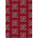 "Milliken College Repeating (NCAA) Nebraska 01230 Repeat Rectangle (4000019002) 10'9"" x 13'2"" Area Rug"