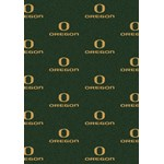 "Milliken College Repeating (NCAA) Oregon 01292 Repeat Rectangle (4000018935) 7'8"" x 10'9"" Area Rug"