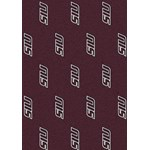 "Milliken College Repeating (NCAA) Southern Illinois 01380 Repeat Rectangle (4000018798) 3'10"" x 5'4"" Area Rug"