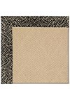 Capel Rugs Creative Concepts Cane Wicker - Wild Thing Onyx (396) Octagon 4' x 4' Area Rug