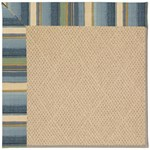 Capel Rugs Creative Concepts Cane Wicker - Kalani Ocean (417) Octagon 4' x 4' Area Rug