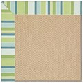 Capel Rugs Creative Concepts Cane Wicker - Capri Stripe Breeze (430) Octagon 4