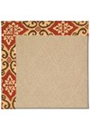 Capel Rugs Creative Concepts Cane Wicker - Shoreham Brick (800) Octagon 4' x 4' Area Rug