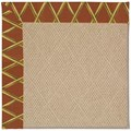 Capel Rugs Creative Concepts Cane Wicker - Bamboo Cinnamon (856) Octagon 4