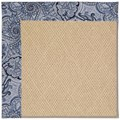 Capel Rugs Creative Concepts Cane Wicker - Paddock Shawl Indigo (475) Octagon 6