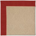 Capel Rugs Creative Concepts Cane Wicker - Canvas Cherry (537) Octagon 6