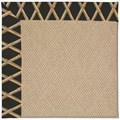 Capel Rugs Creative Concepts Cane Wicker - Bamboo Coal (356) Octagon 8