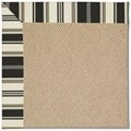 Capel Rugs Creative Concepts Cane Wicker - Down The Lane Ebony (370) Octagon 8