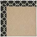 Capel Rugs Creative Concepts Cane Wicker - Arden Black (346) Octagon 12