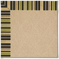 Capel Rugs Creative Concepts Cane Wicker - Vera Cruz Coal (350) Octagon 12