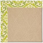 "Capel Rugs Creative Concepts Cane Wicker - Shoreham Kiwi (220) Runner 2' 6"" x 8' Area Rug"