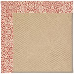 "Capel Rugs Creative Concepts Cane Wicker - Imogen Cherry (520) Runner 2' 6"" x 12' Area Rug"
