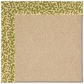 Capel Rugs Creative Concepts Cane Wicker - Coral Cascade Avocado (225) Rectangle 4