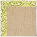 Capel Rugs Creative Concepts Cane Wicker - Shoreham Kiwi (220) Rectangle 6