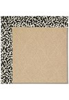 Capel Rugs Creative Concepts Cane Wicker - Coral Cascade Ebony (385) Rectangle 6' x 6' Area Rug