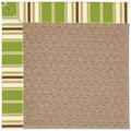 Capel Rugs Creative Concepts Grassy Mountain - Tux Stripe Green (214) Rectangle 8