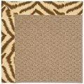 Capel Rugs Creative Concepts Raffia - Couture King Chestnut (756) Octagon 4
