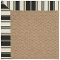 Capel Rugs Creative Concepts Raffia - Down The Lane Ebony (370) Octagon 6