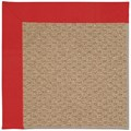Capel Rugs Creative Concepts Raffia - Canvas Jockey Red (527) Octagon 8