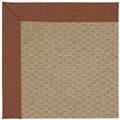 Capel Rugs Creative Concepts Raffia - Linen Chili (845) Octagon 8