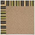 Capel Rugs Creative Concepts Raffia - Vera Cruz Coal (350) Octagon 12