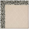 Capel Rugs Creative Concepts White Wicker - Coral Cascade Ebony (385) Octagon 4
