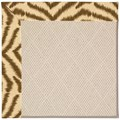 Capel Rugs Creative Concepts White Wicker - Couture King Chestnut (756) Octagon 4