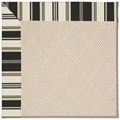 Capel Rugs Creative Concepts White Wicker - Down The Lane Ebony (370) Octagon 6