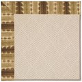 Capel Rugs Creative Concepts White Wicker - Java Journey Chestnut (750) Octagon 6