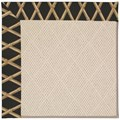 Capel Rugs Creative Concepts White Wicker - Bamboo Coal (356) Octagon 8