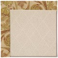 Capel Rugs Creative Concepts White Wicker - Cayo Vista Sand (710) Octagon 8