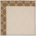 Capel Rugs Creative Concepts White Wicker - Arden Chocolate (746) Octagon 10