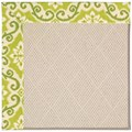 Capel Rugs Creative Concepts White Wicker - Shoreham Kiwi (220) Octagon 12